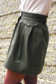 Burdastyle 10/2010 Karl Lagarfeld Mini Skirt by Sewing Tidbits