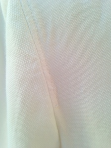Sleeve head topstitching