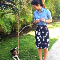 2 pencil skirts and a mitered corner tutorial