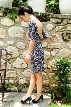 Closet Case Nettie Dress in faux lace by Sewing Tidbits
