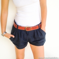 Short Shorts on the line - Retro Burda 07/2013