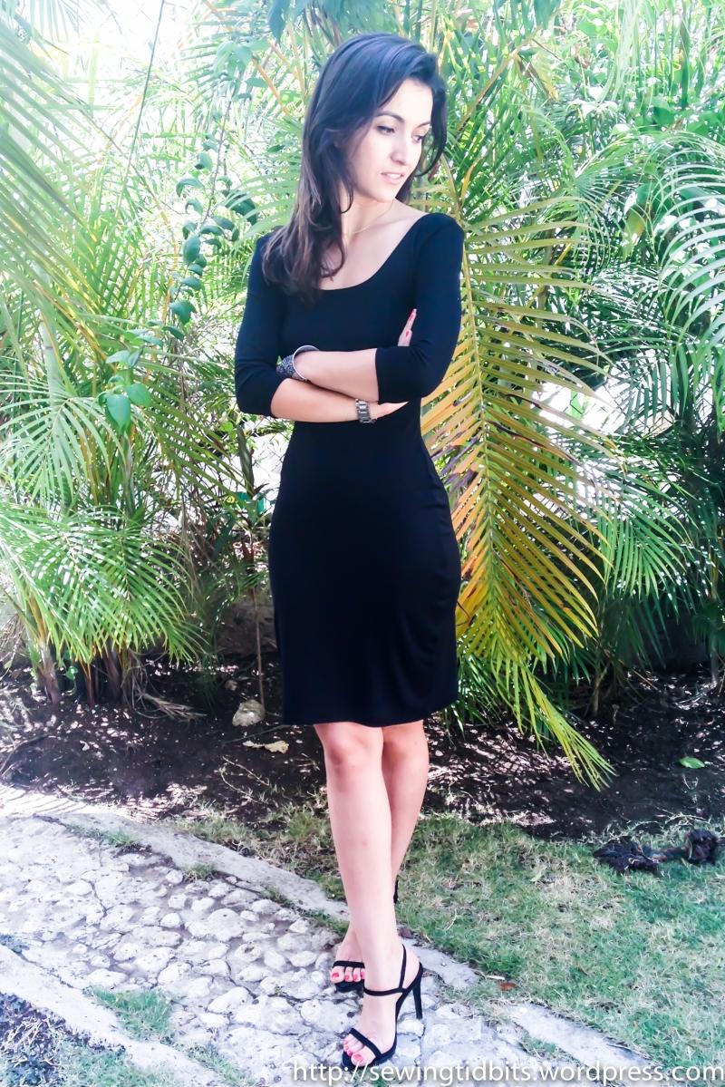 A simple black Nettie dress