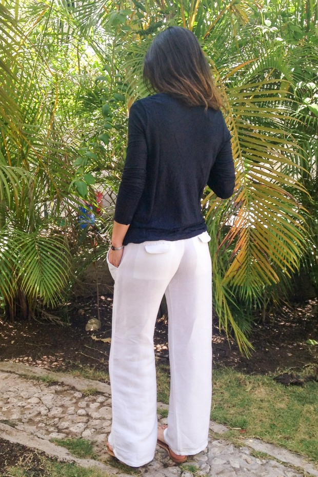 White linen pants 3