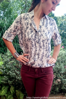 A Modified Archer shirt by Sewing Tidbits
