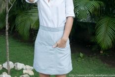 Vogue 1247 skirt by SewingTidbits