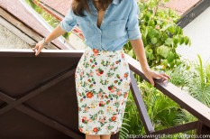 Self-drafted Free Pencil Skirt Pattern