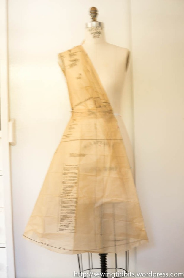 Vogue 8379 - Draping the pattern - SewingTidbits