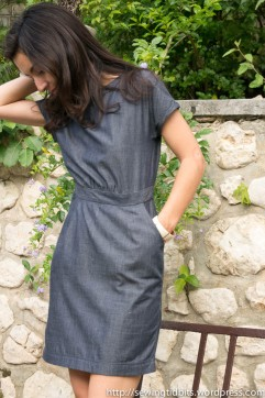 Self-Drafted Chambray Dress by Sewing Tidbits