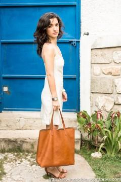 Bias silk slip dress by SewingTidbits
