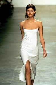 From inspiration to garment part 3 with a commercial for White silk slip wedding dress