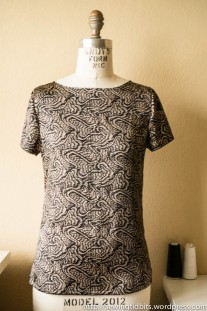 Self-drafted Silk dartless Top by Sewing Tidbits
