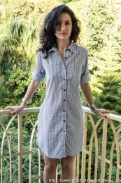 Striped Shirt dress by Sewing Tidbits
