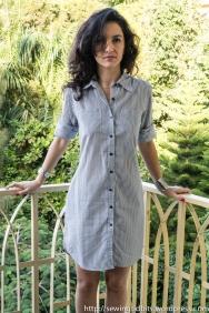 Sewing Tidbits - Striped Shirtdress