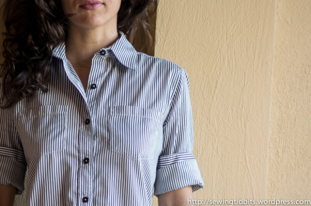 Sewing Tidbits - Striped Shirtdress-8