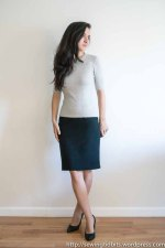 lined pencil skirt Sewing Tidbits