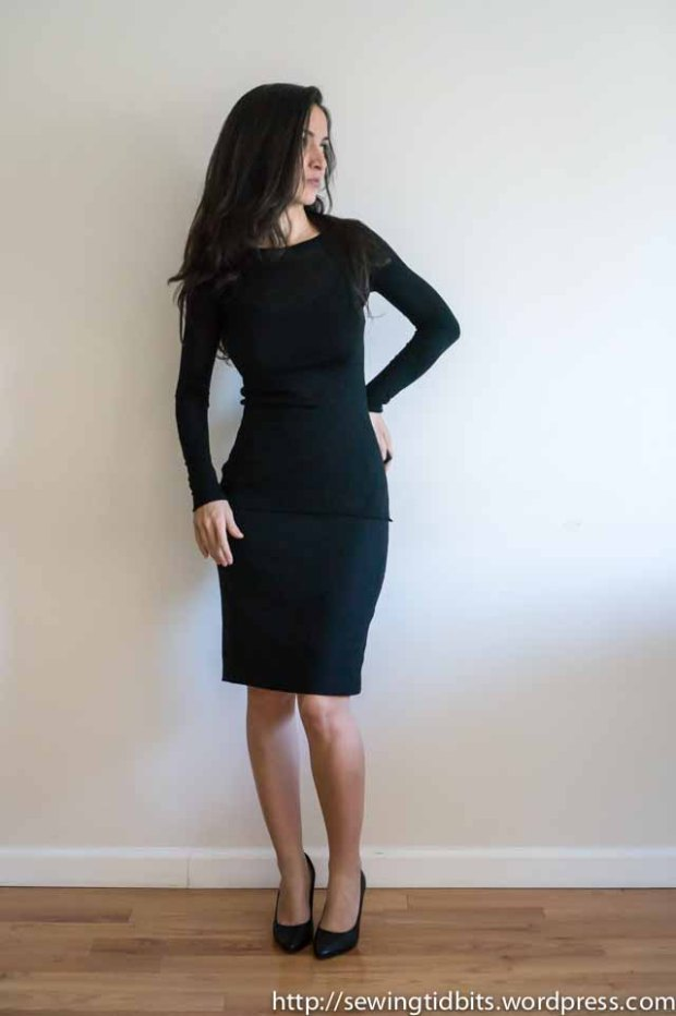 SewingTidbits-Black Slip dress-1