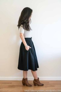 Just Patterns Pleated Skirt by Sewing Tidbits