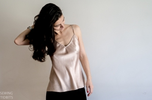 Kate bias top by Sewing Tidbits