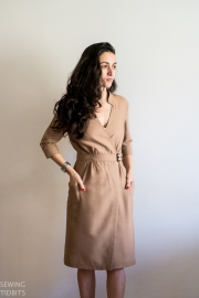 Linda Wrap Dress by Sewing Tidbits