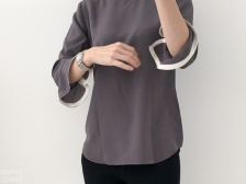 Grey Silk Blouse by Sewing Tidbits