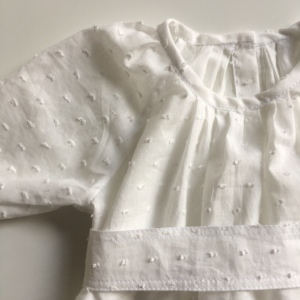 Burda baby dress by Sewing Tidbits
