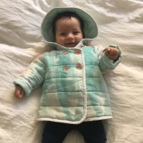 Burda Nani Iro baby coat by Sewing Tidbits
