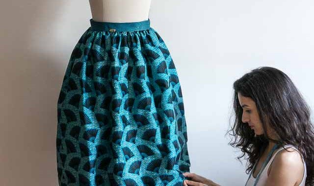 Wax Skirt by Sewing Tidbits