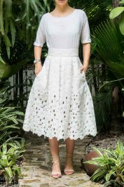 Just Patterns Lace Stephanie Skirt by Sewing Tidbits