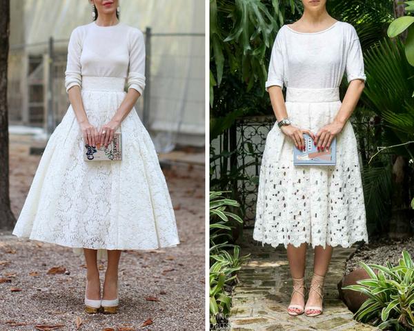 Sewing Tidbits Ulyana Sergeenko Lace skirt