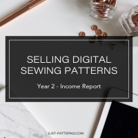 Selling Digital Sewing Patterns – Year 2 Income Report