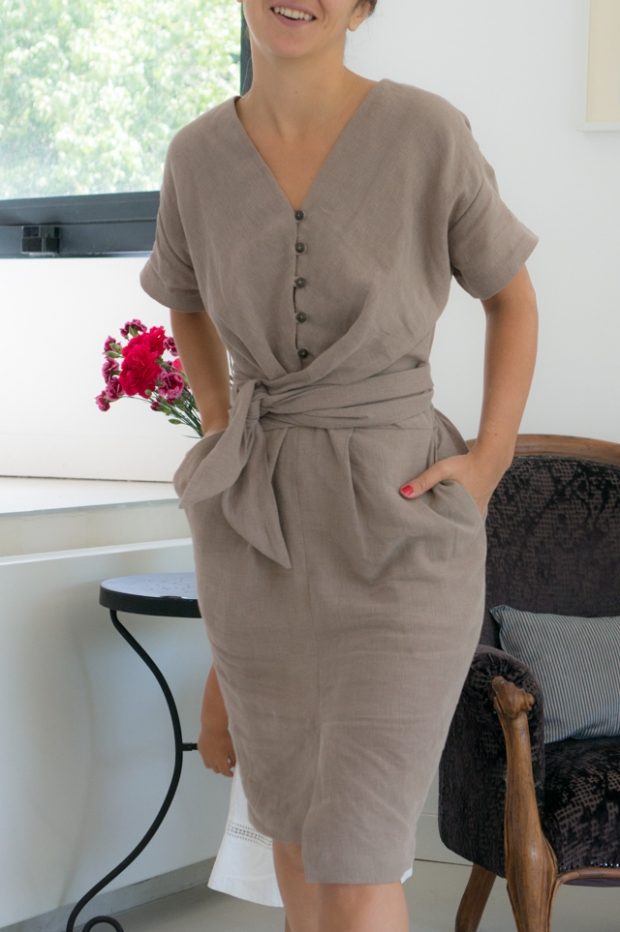 Linen Mila Dress-1 by Sewing Tidbits